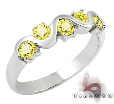 Ladies Yellow Tiara Ring Anniversary/Fashion