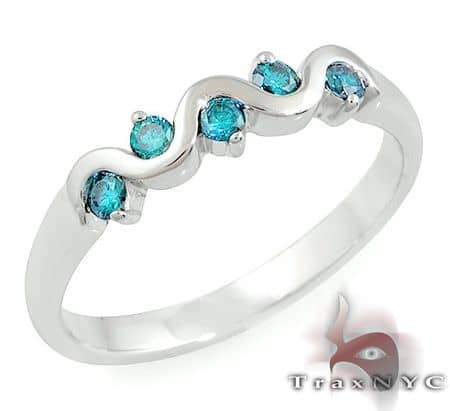 Ladies Blue Tiara Ring  Anniversary/Fashion