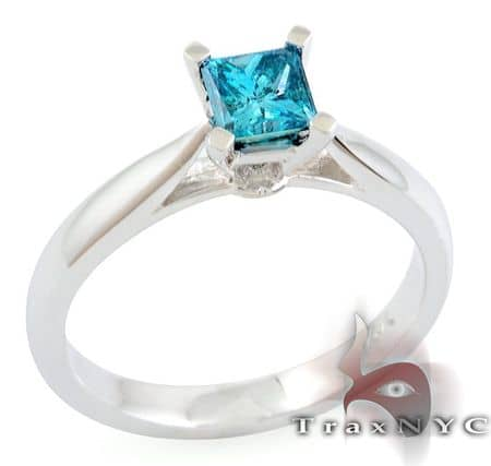 Ladies Blue Splinter Ring Anniversary/Fashion