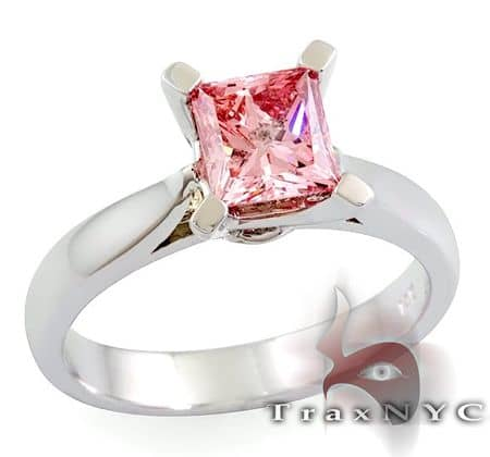 Ladies Pink Splinter Ring Anniversary/Fashion