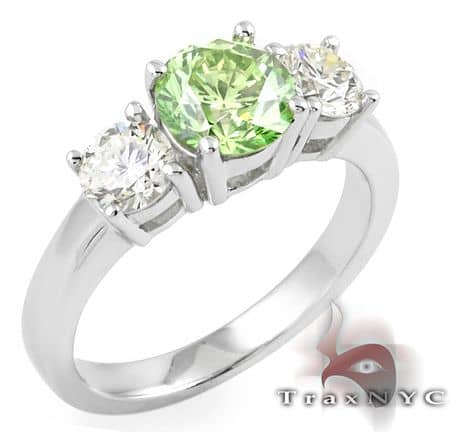 Ladies Green Fantasy Ring Anniversary/Fashion