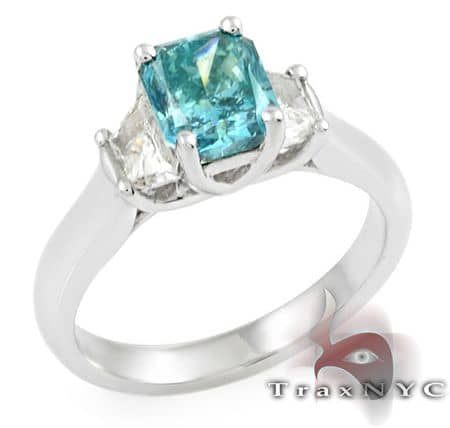 Ladies Blue Radiant Ring Anniversary/Fashion