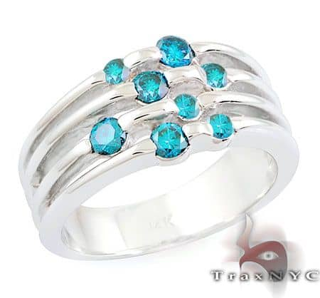 Ladies Blue Tension Ring Anniversary/Fashion