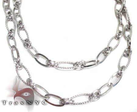 Ladies Modern Necklace Gold