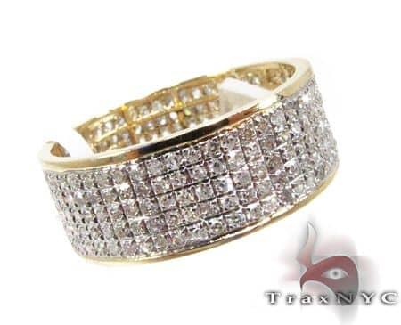YG 5 Row Diamond Ring Style