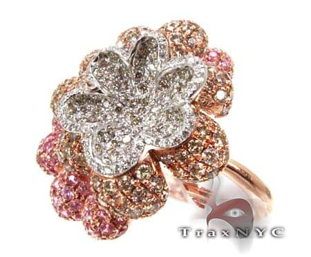 Tri Flower Ring Anniversary/Fashion