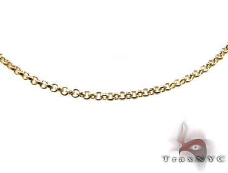 14k Yellow Gold Cable Link Chain 1.7mm 20 inches Gold