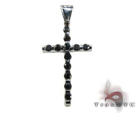 Black Tension Cross Crucifix Diamond