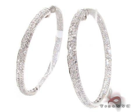WG Ladies Iced Hoops Stone