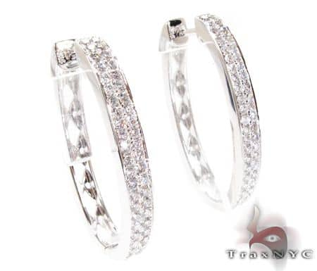 WG Two Row Oval Hoops Stone