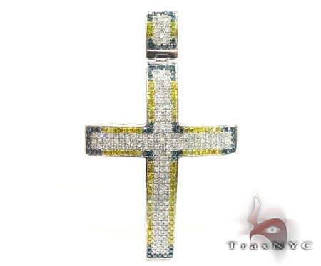 Mini Blue Corner YW Cross Crucifix Diamond