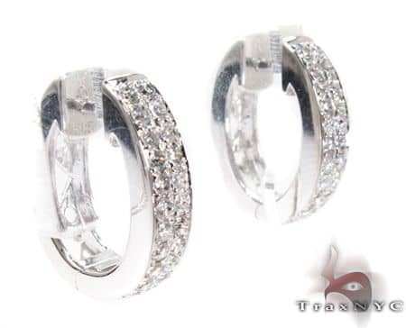 WG Two Row Small Hoops 2 Stone