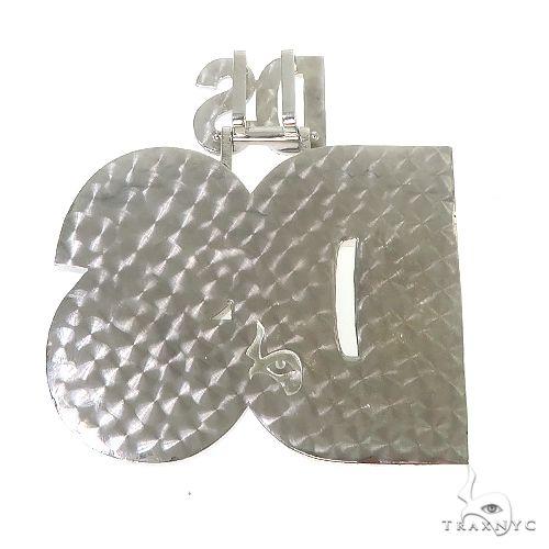 .925 Silver Diamond 'DS' Pendant 67095 Metal