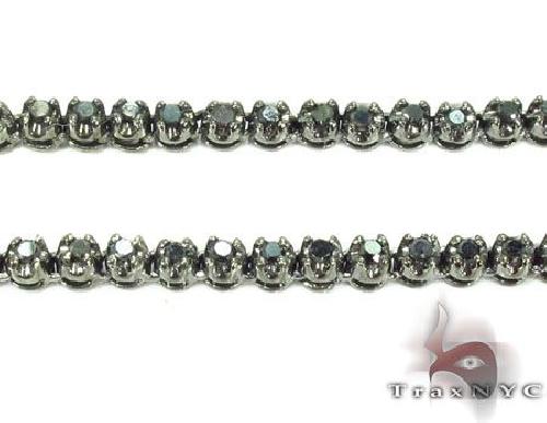 .925 Sterlilng Silver Black Diamond Chain 30 Inches 3.5mm 40.7 Grams 63877 Diamond