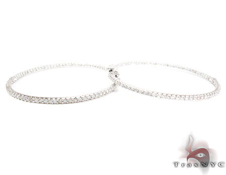 1 Row Diamond Hoop Earrings Style