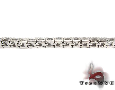 1 Row Silver CZ Bracelet Silver & Stainless Steel