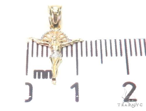 10K Gold Halo Crucifix 44786 Style