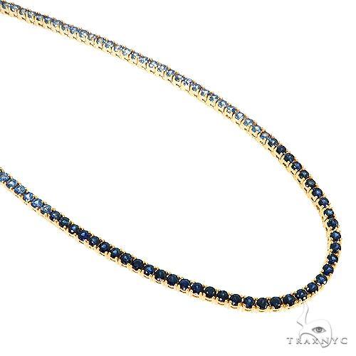 10 Pointe Blue Sapphire Tennis Chain 67191 Men Specials