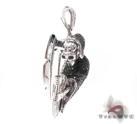Black Diamond Death Pendant Metal
