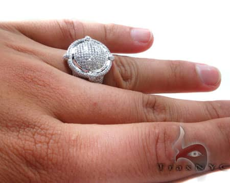 Pave Convex Ring Stone