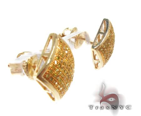 Canary Square Earrings Stone