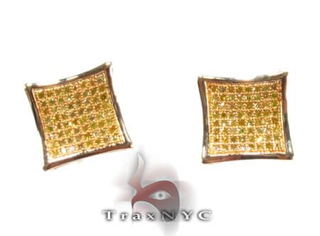 Canary SQ Earrings Stone