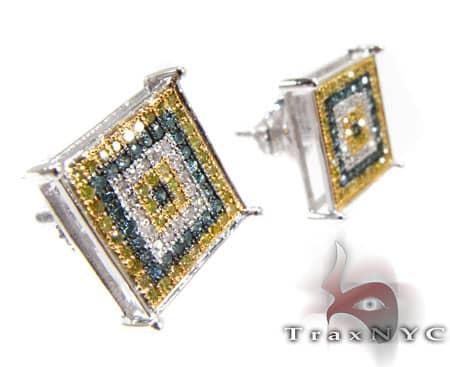 Multi Color Prong Earrings Stone
