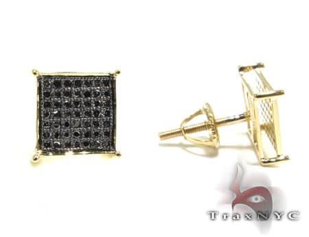Black Diamond Earrings Stone