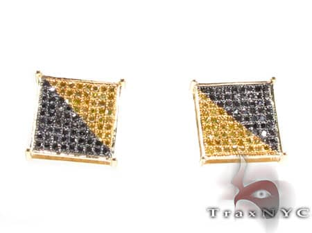 Canary & Black Earrings Stone