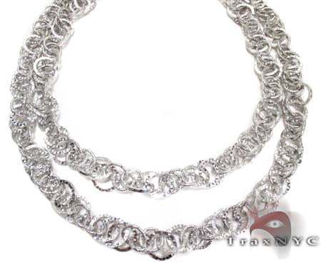 Ladies White Gold Necklace Gold