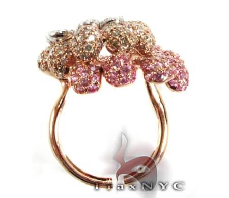 Tri Flower Ring Anniversary/Fashion