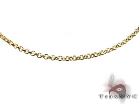 Round Link Chain 20 Inches, 1.7mm, 4.3 Grams Gold