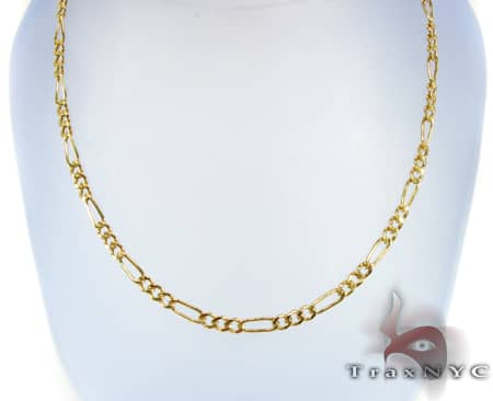 Figaro Chain 18 Inches, 3.3mm, 3.70 Grams Gold