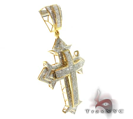 Hip Hop Jewelry - Yellow Spartan Cross Diamond
