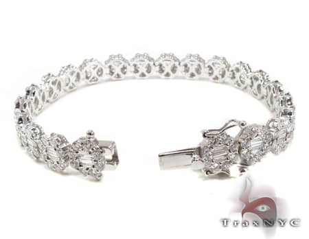 Baguette Flower Bracelet Diamond