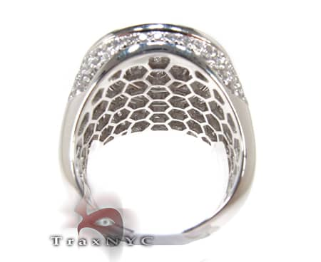 White Gold Mayan Pinky Ring Stone