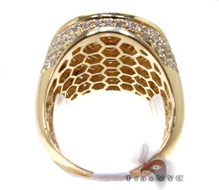 Mens Gold Mayan Pinky Ring Stone