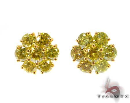 Canary Sunflower Earrings Stone