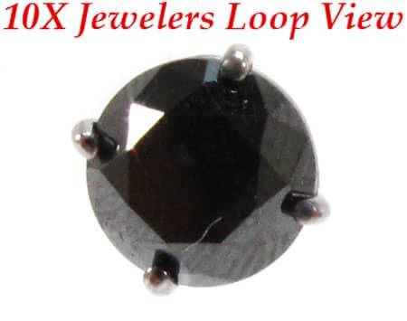 Royal Black Diamond Earrings 4 Stone