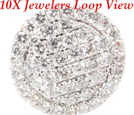 Round Pave Earrings Stone