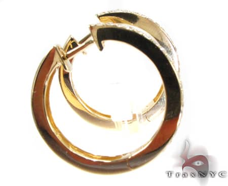 YG Two-Row Small Hoops Stone