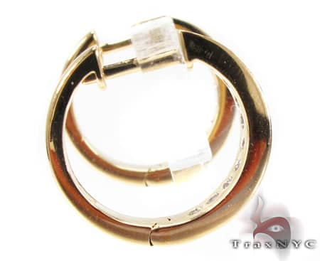 YG Small Channel Hoops Stone