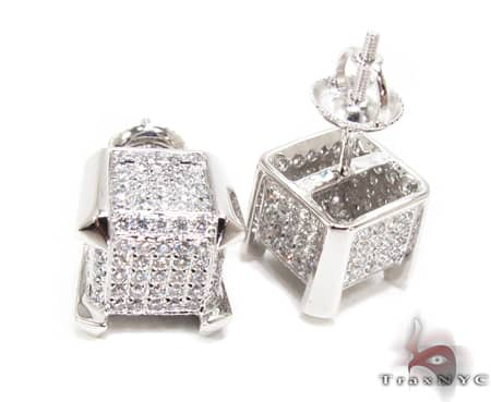 WG Cube Earrings Stone
