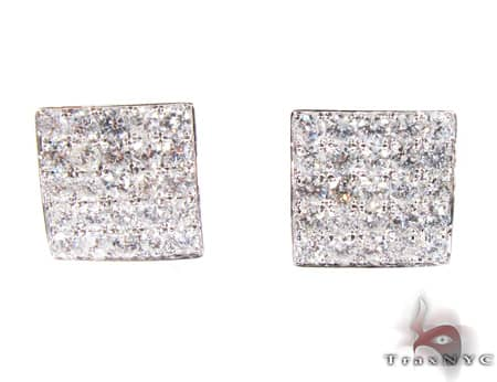 WG Five Row Spec Earrings Stone