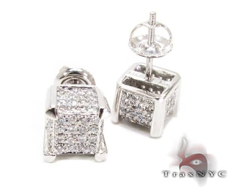 WG Tiny Cube Earrings 2 Stone