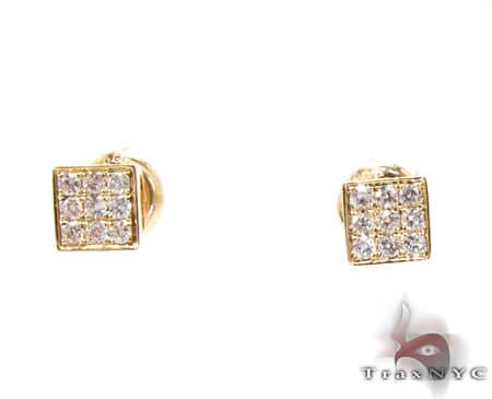 YG Three Row Small Earrings Stone
