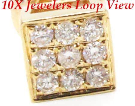 YG Three Row Small Earrings Stone