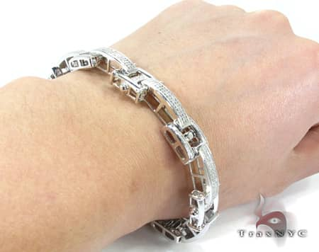 Prong Link Bracelet Diamond