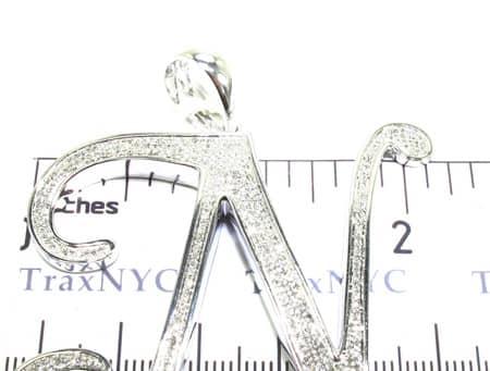 Prong Diamond Iced Pendant Metal