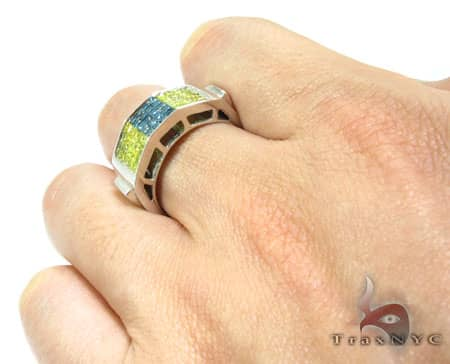 Blue & Canary Fusion Ring Stone